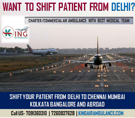 King Air Ambulance in Delhi
